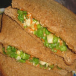 Carrot Green Peas Cottage cheese/ Paneer sandwich