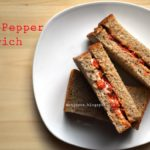 Roasted red bell pepper sandwich