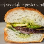 Grilled vegetable pesto sandwich